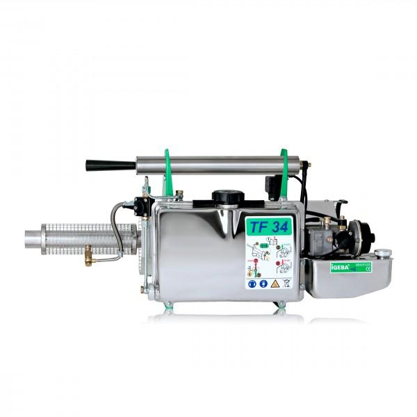 Con tan sólo 78 cm de longitud total y 6,6 kg de peso sin carga, es el termonebulizador más pequeño y ligero de la marca IGEBA.